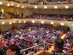 Audience in the City Recital Hall, Angel Place, discount concert tickets are available here.