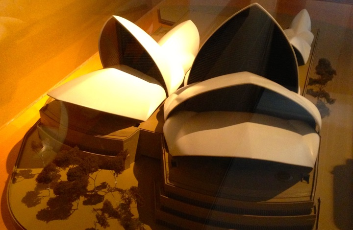 Early Utzon model of Sydney Opera House. History showed these sails wouldn't work.
