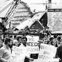Sydney Opera House history: Unsuccessful rallies and support