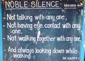 Noble silence defined