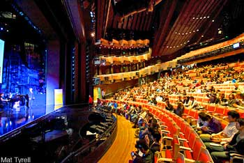 Sydney Opera House - inside the Joan Sutherland Theatre, doable with discount concert tickets