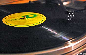 A vinyl record on a turntable - still possible at this Sydney classical music internet radio station