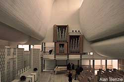 Joern Utzon: Bagsvaerd Church interior