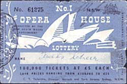 Ticket for the Sydney Opera House lottery