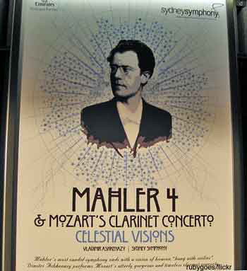 Sydney Symphony Orchestra concert poster for Sydney Opera House tickets to Mahler's fourth