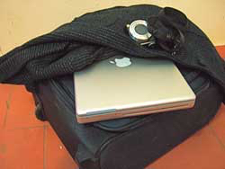 Airline luggage weight - computer, jacket and briefcase