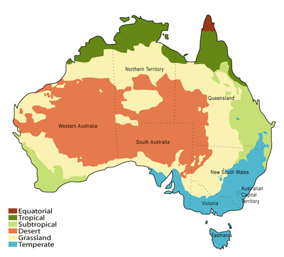 Australia facts: Australia's Deserts Based on a map from the Australian Bureau of Meteorology