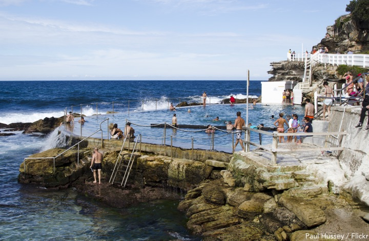 The coastal pool, Bronte beach Sydney