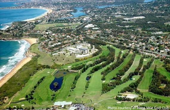 Golf Sydney: aerial view of Mona Vale course