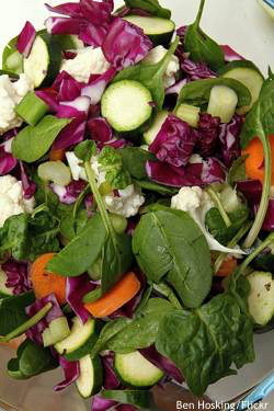 Good Food Month: Fresh mesclun salad at the Growers Market