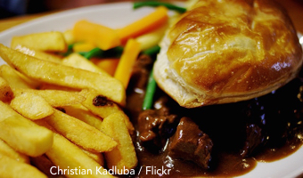Good food month: pie and chips