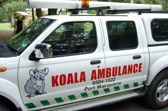 An ambulance dedicated to koala care