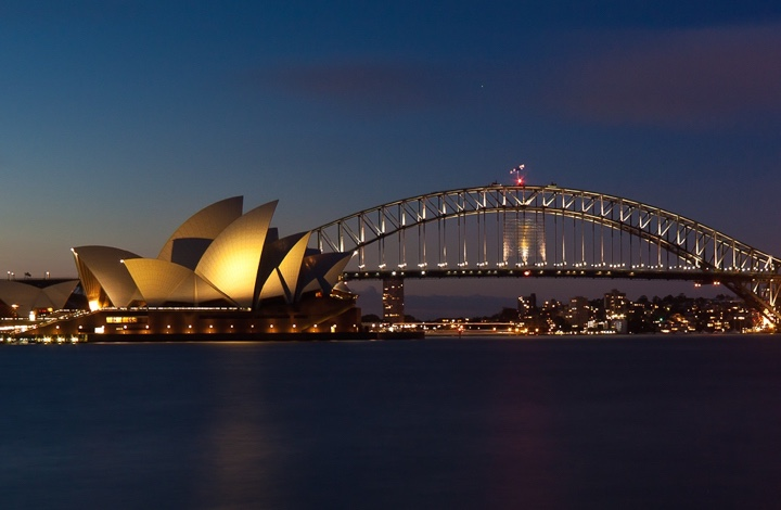 New Years Eve ideas: the Sydney Harbour bridge ready for the fireworks