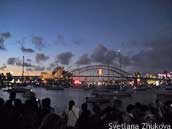New years eve Sydney: waiting on the foreshore
