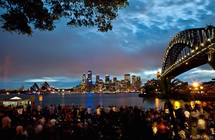 New Years Eve Sydney: View from the north shore