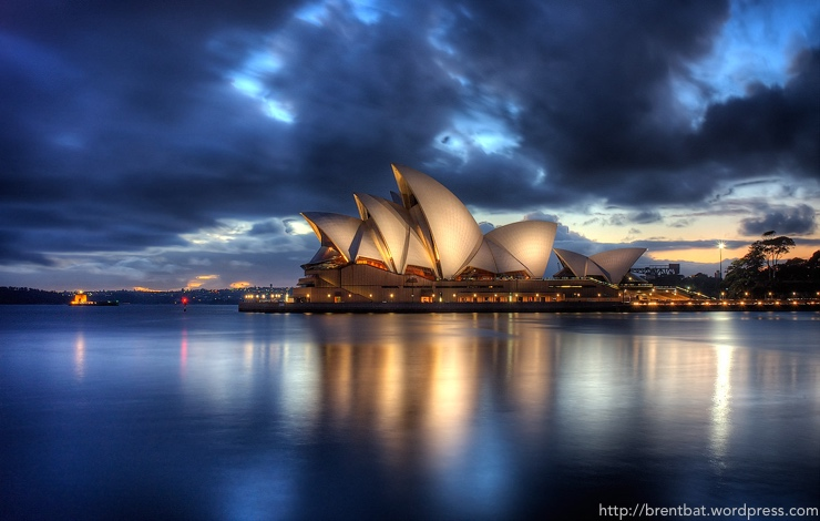 Opera House Sydney Australia shot in HDR at sunrise