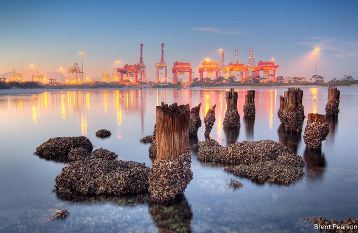 Port Botany from across the water: Photos of Sydney