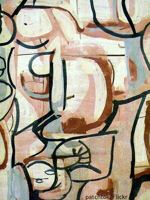 Sydney art gallery: detail of painting