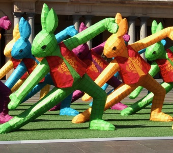 Sydney Chinese New Year Rabbit Lunar Lanterns