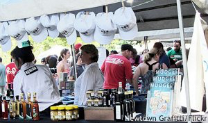 Wine Festival Sydney: stalls at the Growers Market