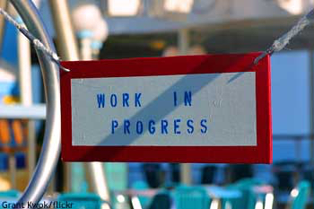 "A "" work in progress"" sign: Working holiday visa Australia"