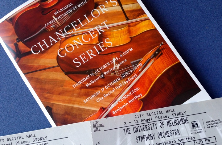 Concert tickets for sale by application online, free of charge