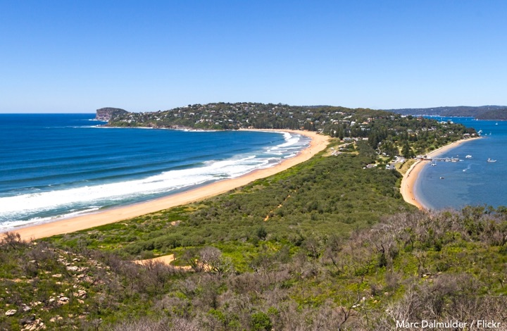 Sydney beaches: Palm Beach viewed from the Barrenjoey lighthouse