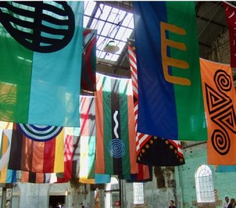 Australian artwork: Archie Moore: United Nations: faux flags