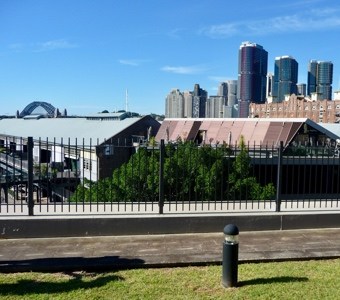 Sydney walks: looking back from the Pyrmont peninsula to the harbour and Barangaroo