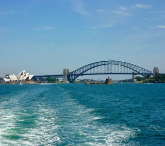 The harbour bridge: the focal point of Sydney New Years Eve outdoors celebrations