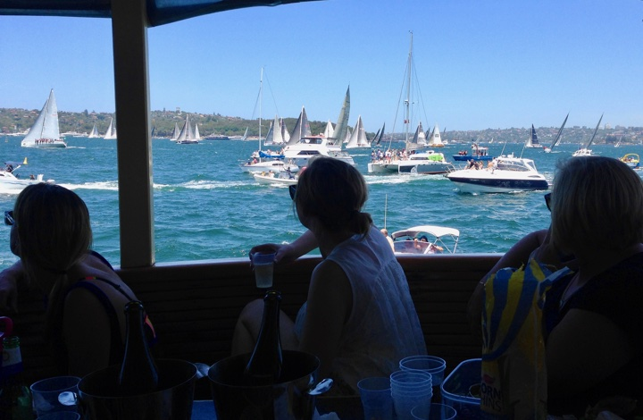 What to do in Sydney on Boxing Day: On the harbour for the start of the Sydney to Hobart race.