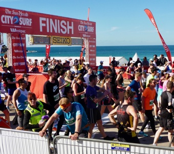 What to do in Sydney: Finish the City to Surf at Bondi Beach