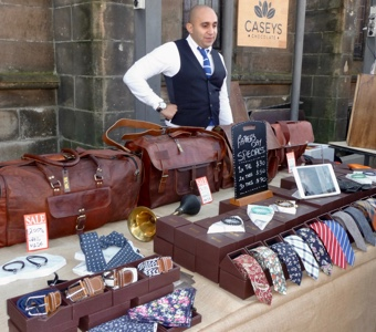 Paddington markets Sydney: leather bags and men's accoutrements
