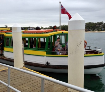Sight seeing from Sydney: Ferry at Bundeena wharf
