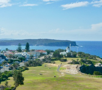 Stunning Sydney view: the signal station and coastline